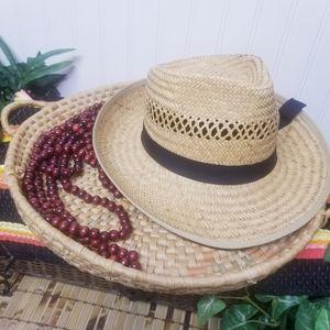 Broner Woven Sun Straw Hat With Black Ribbon